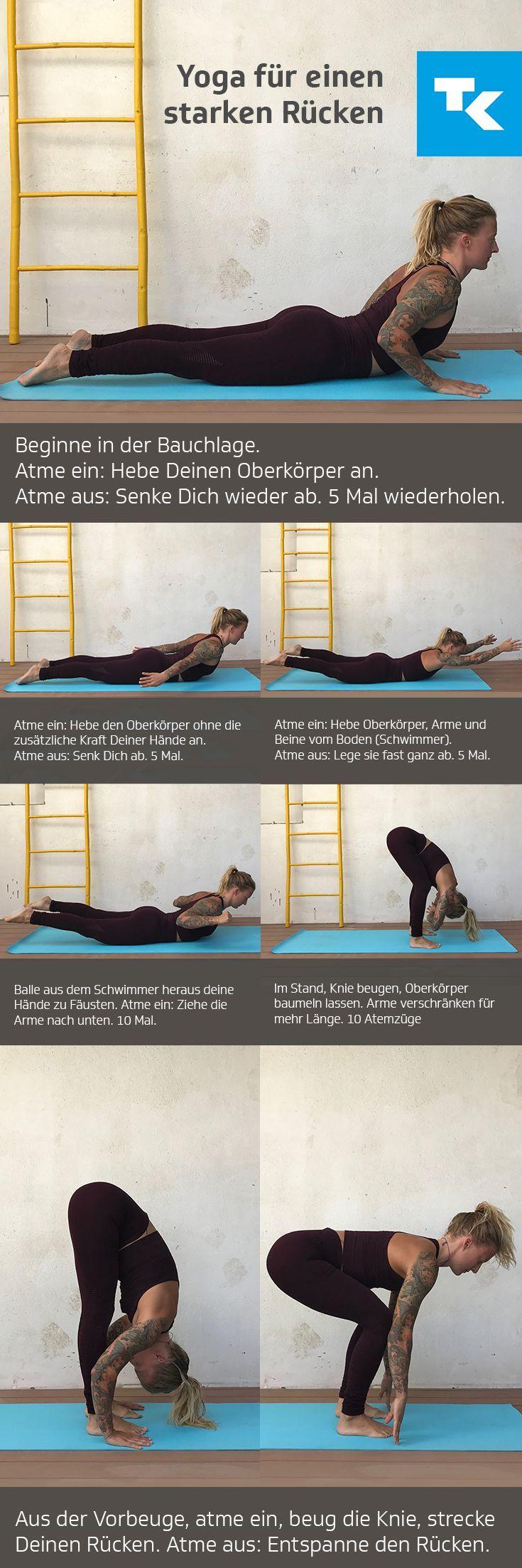 Eine schlechte Haltung im Alltag und zu wenig #Bewegung in der #Freizeit sorgen für Verkürzungen bei #Muskeln, #Bändern und der #Wirbelsäule. Demnach gehören #Rückenschmerzen zu den häufigsten gesundheitlichen #Beschwerden. Das Gute: Ihr könnt etwas dagegen tun.Diese #Yoga-Übung stärkt Euren #Rücken, löst #Verspannungen und kann sogar #Schmerzen lindern.
