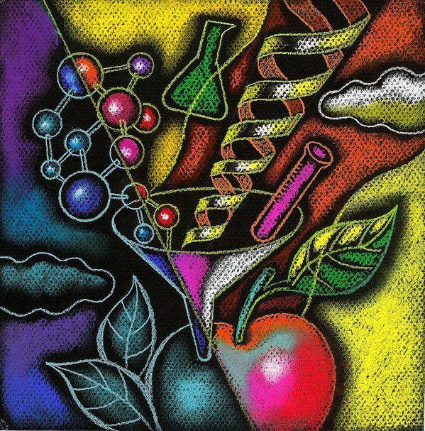 Яблоко Биохимия Биология биотехнология Химическая меняется Цвет изображения Цвет Разработка чертежей вкус еды и питья плод генной инженерии генетика группы крепкому здоровью иллюстрации иллюстрации и живопись инновационной среды группы объектов изменение изменение молекулы многоцветный многоцветный никто питанию частиц потенциал науки Площадь изображения вкус органических продуктов печать репродукция картины экологически чистые продукты, Леон Zernitsky