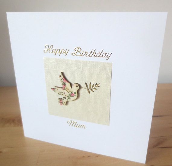 Personalised birthday card for her wife mum by FyneHandmadeCards