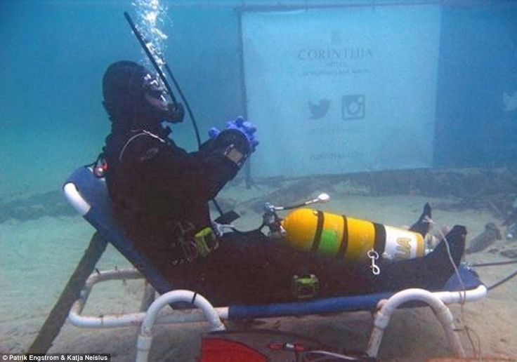 Record breaker: British diver Sean McGahern, 38, has broken the world record for the longest warm water scuba dive, staying below the surface of the sea off Malta for 50 hours
