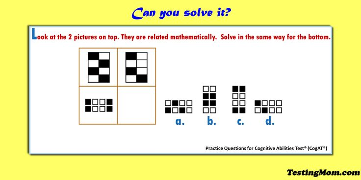 can your child solve this   cogat  bedtime  practice