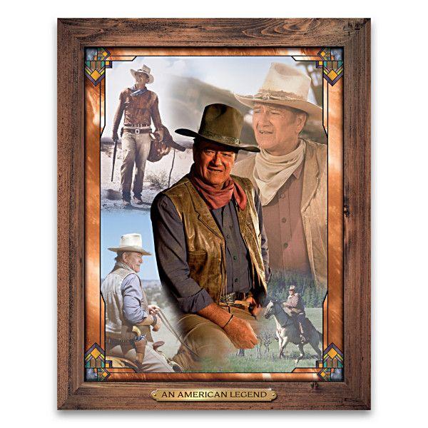 The Legend Of John Wayne Self Illuminating Wall Decor John Wayne Wayne Iconic Movies