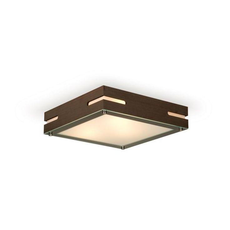 Plafon Sobrepor Lumidec PF24 - 3 Lâmpadas ( 34,6cm x 34,6cm) Âmbar