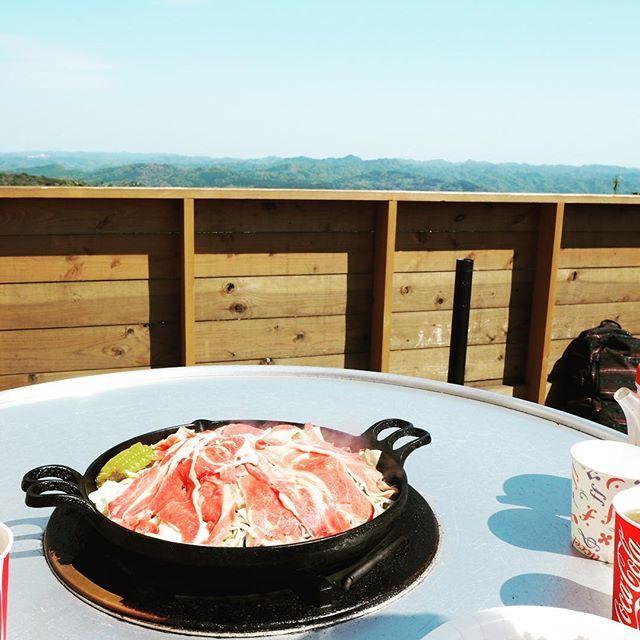 自然の中でBBQ🍖 #BBQ #ジンギスカン #肉 #マザー牧場 #自然 #千葉 #快晴