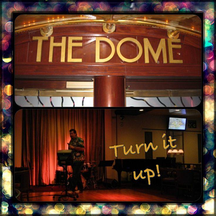 #AustraliaDayOnboard  #PacificDawn Dome night club and karaoke on board