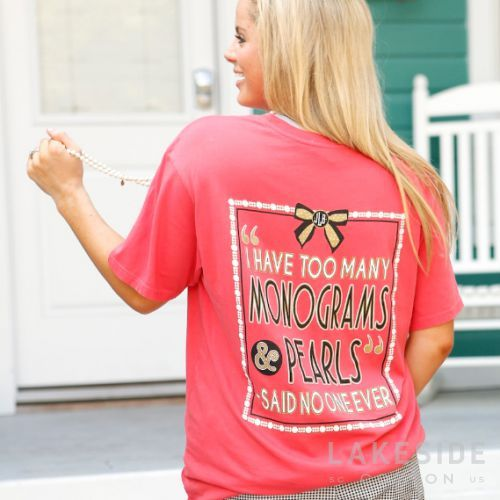 Mic drop... you can never have too many monograms or pearls😉