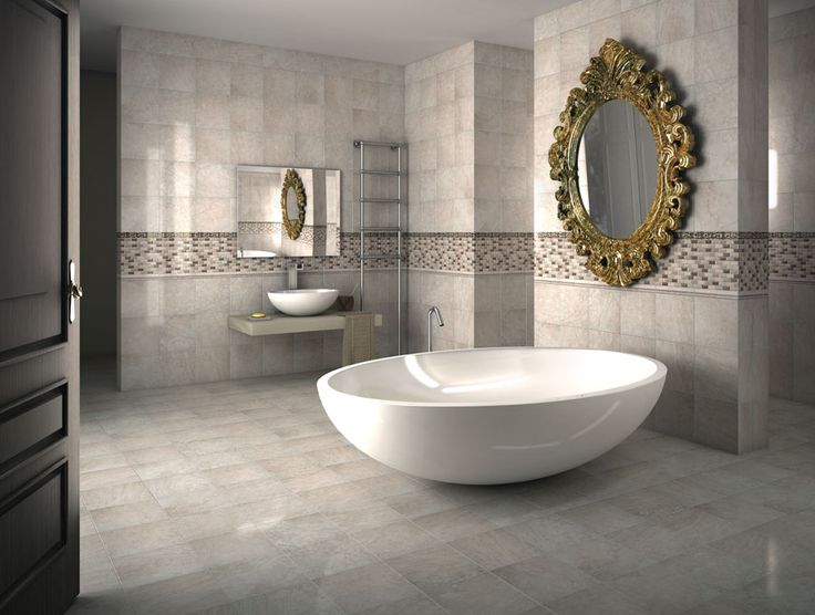 This Is The Cinema Ivory Lace From Florida Tile. A Nice Way To Showcase A.  Floor CoveringBath DesignVessel ...