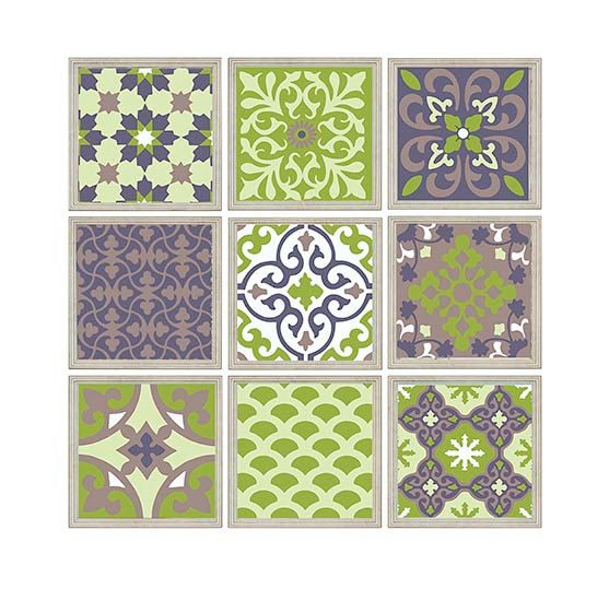 Patchwork Moroccan style Wall Art Digital Mosaic Tile  Modern
