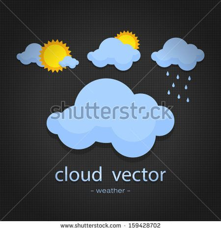 icon weather on back background http://www.shutterstock.com/pic-159428702/stock-vector-icon-weather-on-back-background.html?src=kf6DuYeydaJbeAU9sja52A-1-46