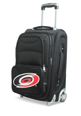 Denco Nhl Carolina Hurricanes  Luggage Carry-On Rolling Softside Nylon In Black - Black - One Size