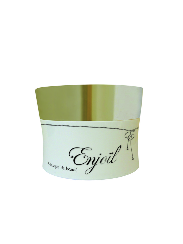 Masque Enjoïl aux cinq huiles : Argan, bluffa, jojoba, olive, amande. Hydrate…