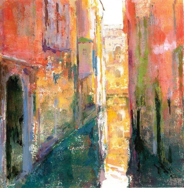 """""""Mediodia en un canal""""50x50cm.M.Teresa Martin-Vivaldi"""
