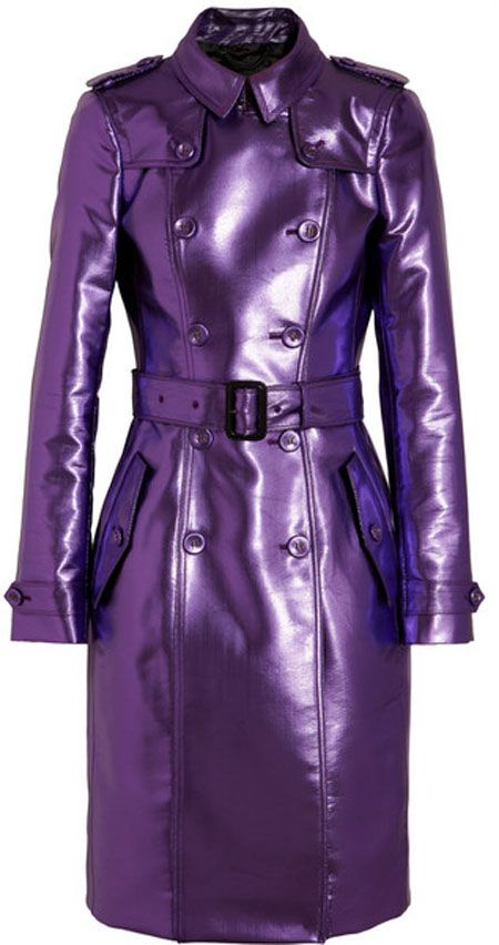 OMG!!!!! NEED THIS!!!!!Burberry Prorsum Lavender Purple Metallic Trench Coat