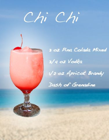 CHI CHI - Frozen Drink Recipe....best cocktail in Aruba!
