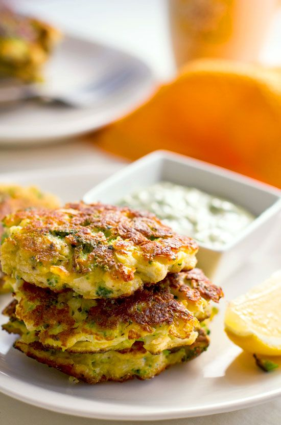 Broccoli Fritters with Cauliflower & Halloumi Cheese | Eat Drink Paleo