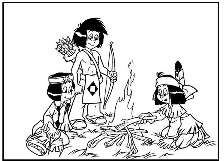 yakari making fireside | malvorlagen für kinder zum
