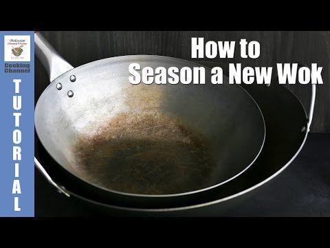 (6) How to Season a New Wok | Malaysian Chinese Kitchen - YouTube