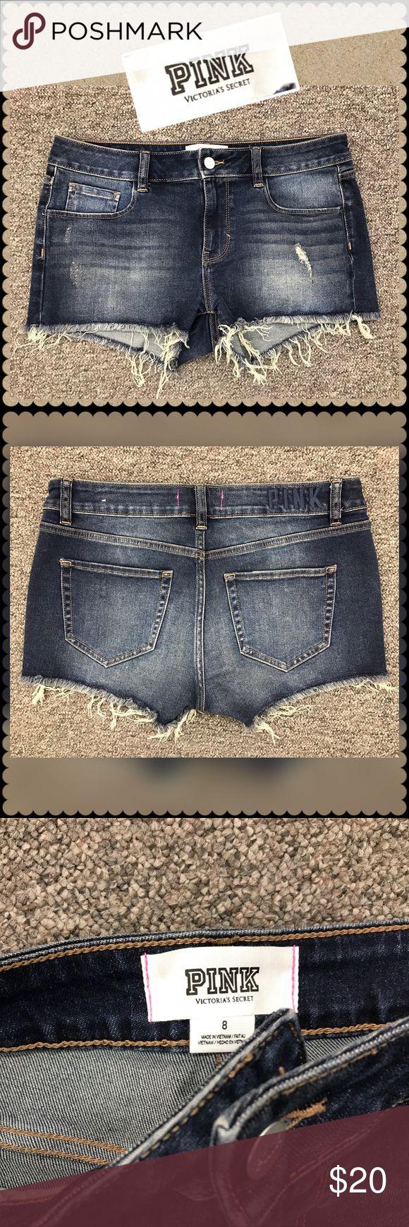 VICTORIA'S SECRET PINK Cutoff Jean Shorts Sz 8 VICTORIA'S SECRET PINK Cutoff Jean Shorts Sz 8 PINK Victoria's Secret Shorts Jean Shorts
