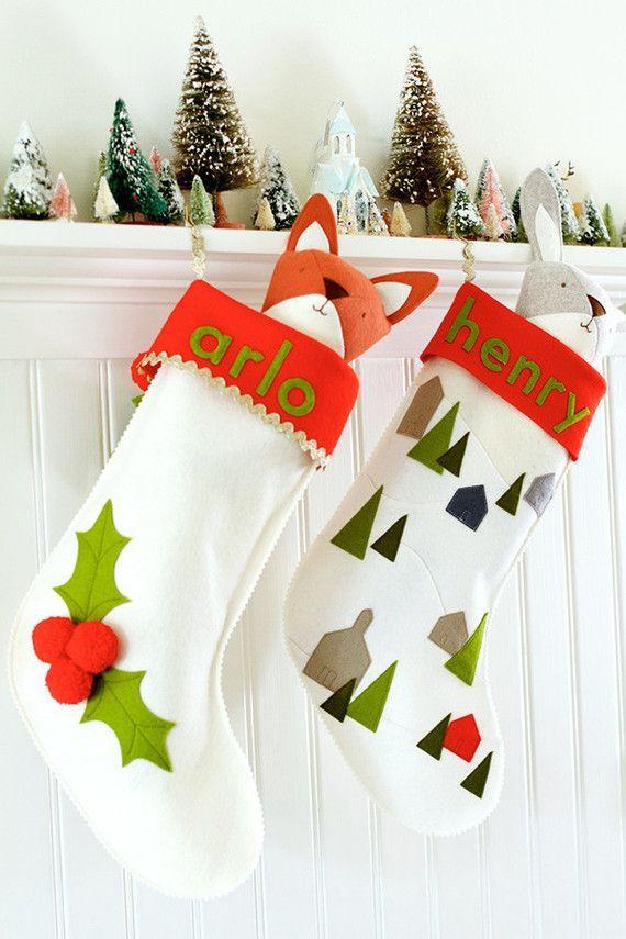1000 ideas about felt stocking on pinterest felt for Felt stocking decorations