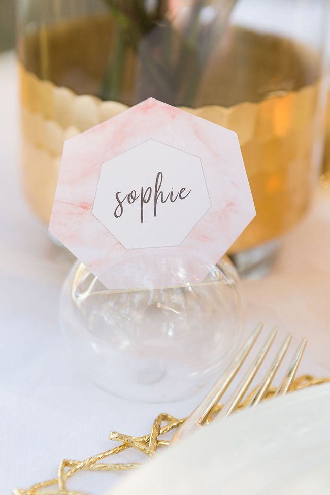 DIY This Pink Marble Wedding Inspiration With Cricut