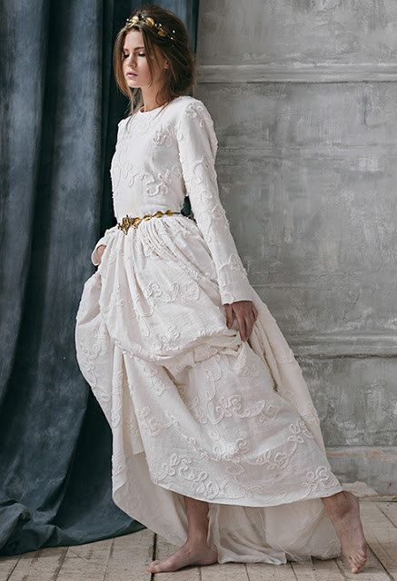 rabia rustic wedding dress long sleeve wedding dress with sleeve country alternative wedding dress boho wedding dress bohemian wedding