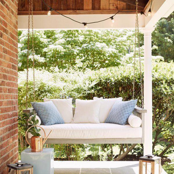 Sunday Porch Swing Ballard Designs Porch Swing Outdoor Bed Swing Crib Mattress Cover