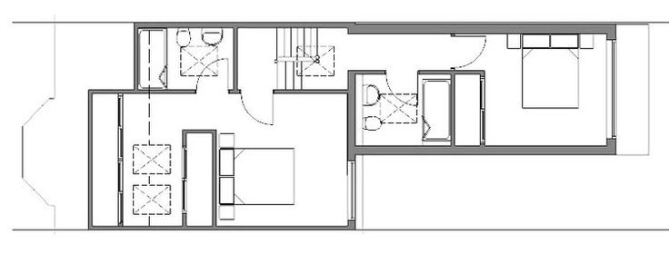 A loft conversion plan of an L-shaped dormer