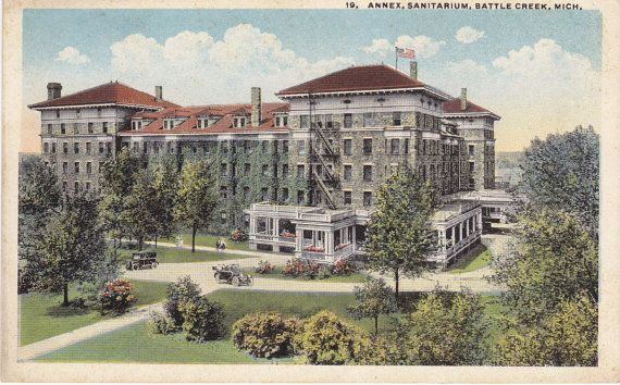 Annex Sanitarium Battle Creek Michigan 1920s by EphemeraObscura, $6.50