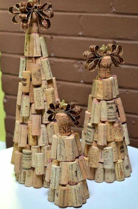 Cute wine cork trees!
