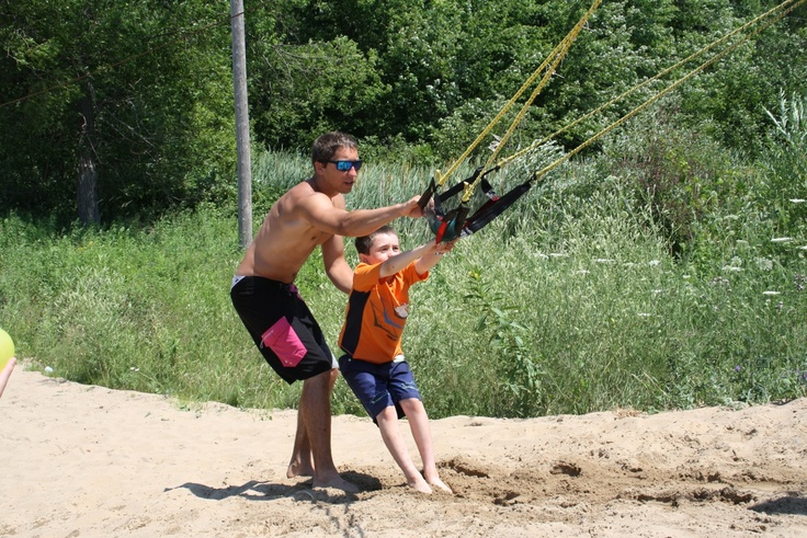 Water balloon sling shot is awesome. The balloon gets launched over 300 feet. Part of the summer fun at Fern Resort!