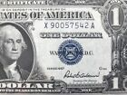 1957 Silver Certificate $1 DOLLAR BILL Blue Seal (…