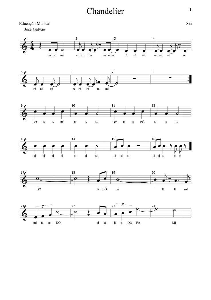 Chandelier - SIA - CL Partitura pag1-2 https://www.youtube.com/watch?v=xnvsROjBqDc