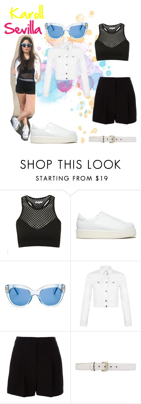 """""""karol sevilla"""" by maria-look on Polyvore featuring Topshop, SILENT by Damir Doma, Kate Spade, Miss Selfridge, DKNY and Gucci"""