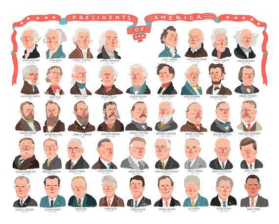 Presidential Poster by HadleyDesignCo on Etsy