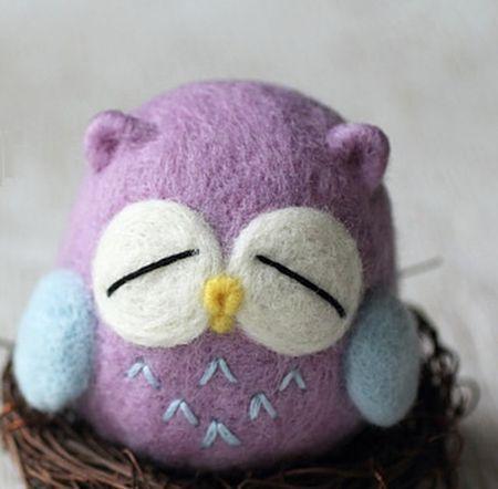 Esta coruja de agulha feltrada encanta a todos (Foto: craftpassion.com)