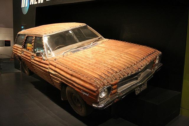 Corrugated Iron Car