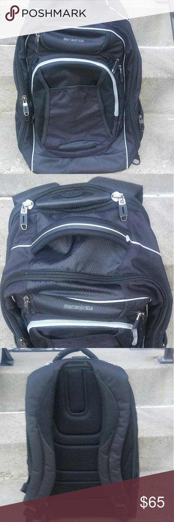 """Samsonite Tectonic wheeled Backpack 21"""" In great condition Samsonite backpack Flaws the extra strap have been worn from the wheels (pictured) Lightning Speed Shipping Thanks for looking:-) Let me know if you have any questions. Samsonite Bags Backpacks"""