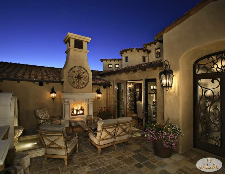 50 best images about spanish colonial design on pinterest for Spanish outdoor fireplace