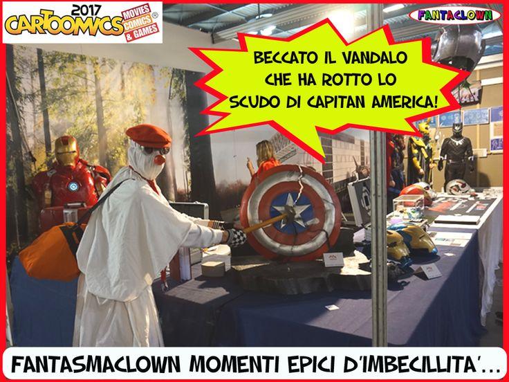 FantasmaClown Cartoomics2017 imbecillita'