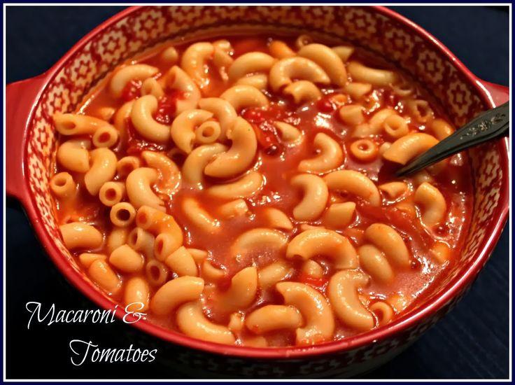 Sweet Tea and Cornbread: Mama's Macaroni and Tomatoes...My Comfort Food!