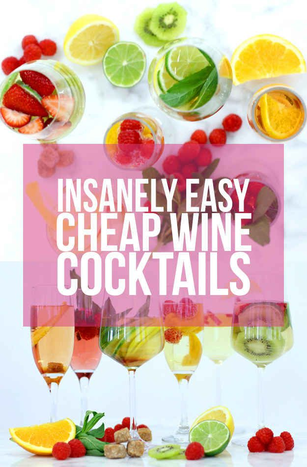6 Easy Cocktail Recipes That Make Cheap Wine Taste Damn Good