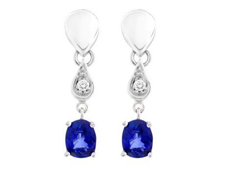 Aretes elaborados en Zafiros, Diamantes y Oro Blanco #jewellery #earrings #gold #luxury #diamonds #sapphire