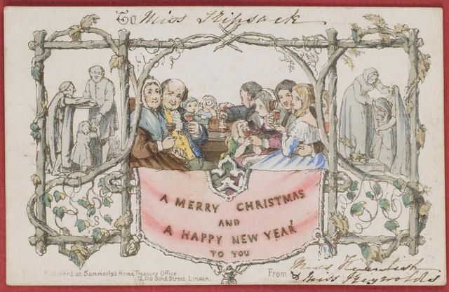 21 best vintage christmas images on pinterest vintage for Who commissioned the first christmas card in 1843