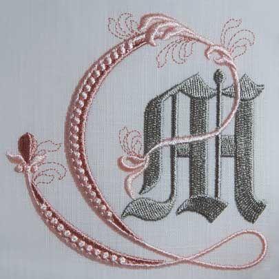 Fleur de Lys Alphabet- M: