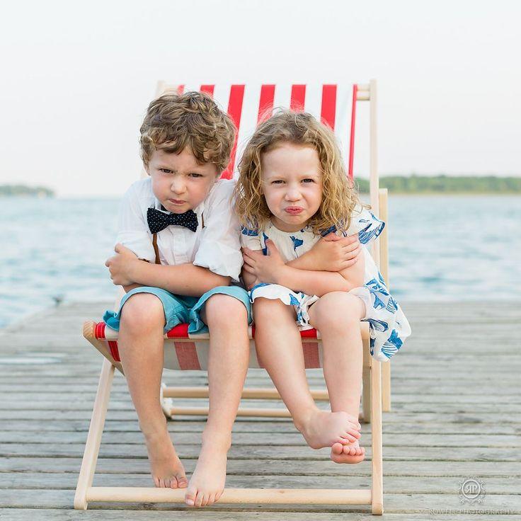 Children's Nautical Commercial Portraits Nautical photo shoot, summer portraits, dock, muskoka, canada.  Photo by: Rowell Photography