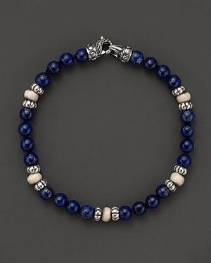 Scott Kay Lapis and Bone Beaded Bracelet | Bloomingdale's