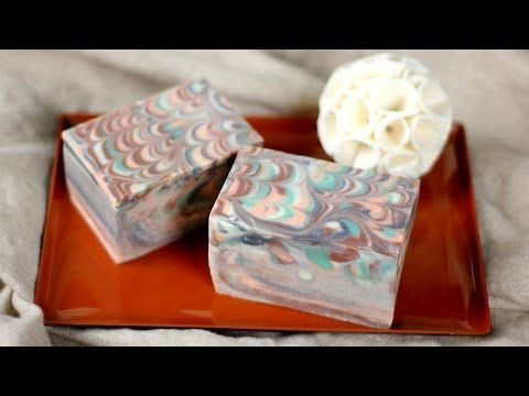 ▶ How to Make the Perfect Peacock Swirls in Soap - YouTube