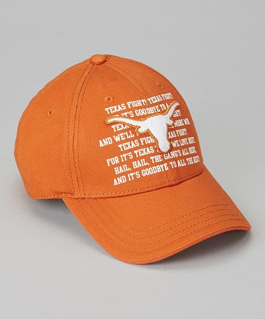 Take a look at this Burnt Orange Texas Fight Song Chino Cap - Adults by T.E.I. on #zulily today!