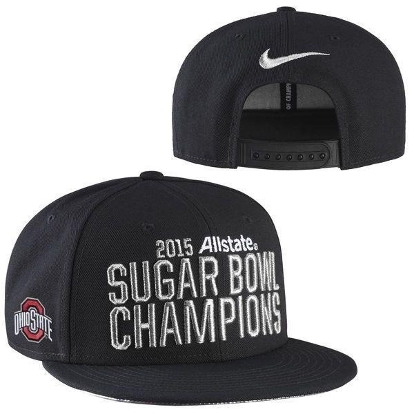 Ohio State Buckeyes Nike 2015 Sugar Bowl Champions Player's Locker Room Adjustable Hat – Black - $26.99