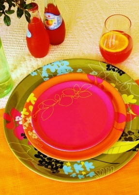 Botany melamine dinner set